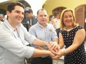 Gustinho, Armando e Rivanda: juntos