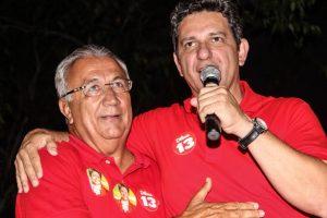 Rogério em campanha para o Senado: sem Eliane no palanque